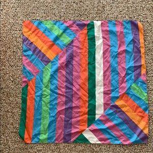 Zara bright striped scarf